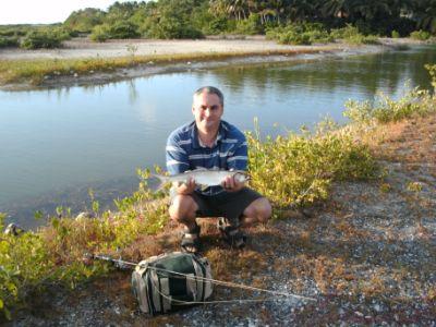 how to catch fish below a dam